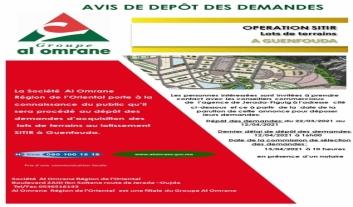 Dépôt des demandes d'acquisition des  lots de terrains au lotissement SITIR à Guenfouda.